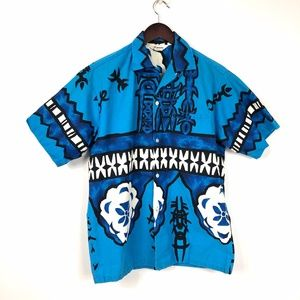 VTG Hawaiian Button Down Short Sleeve Shirt Sz M/L